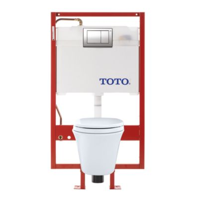 TotoUsa Maris® Wall-Hung Toilet & DUOFIT In-Wall Tank System, 1.6 GPF & 0.9 GPF, Elongated Bowl - Copper Supply