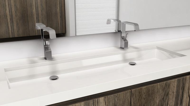 Wetstyle Vc 848u 48 Undermount Bathroom Double Trough Sink The Cube Collection Vc 848u Snyder Diamond