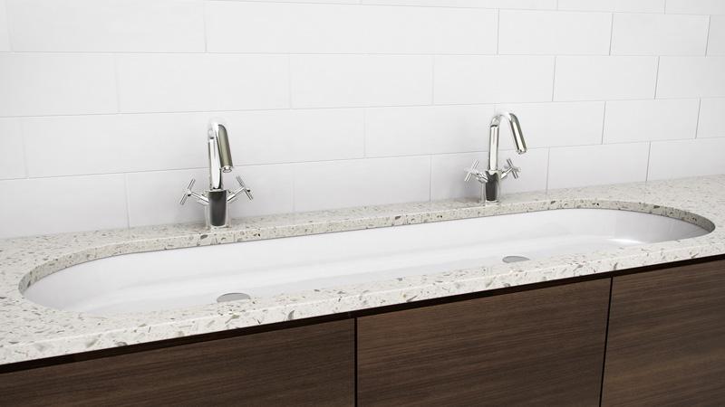 Wetstyle Vov 848u 48 Undermount Bathroom Trough Double Sink The Ove Collection Vov 848u Snyder Diamond