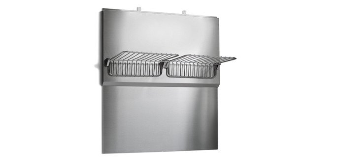 STAINLESS BACK SPLASH & WARM RACK FOR 36