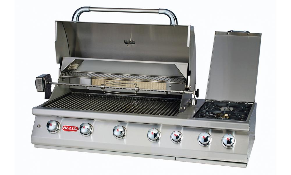 7 Burner Grill Head Open