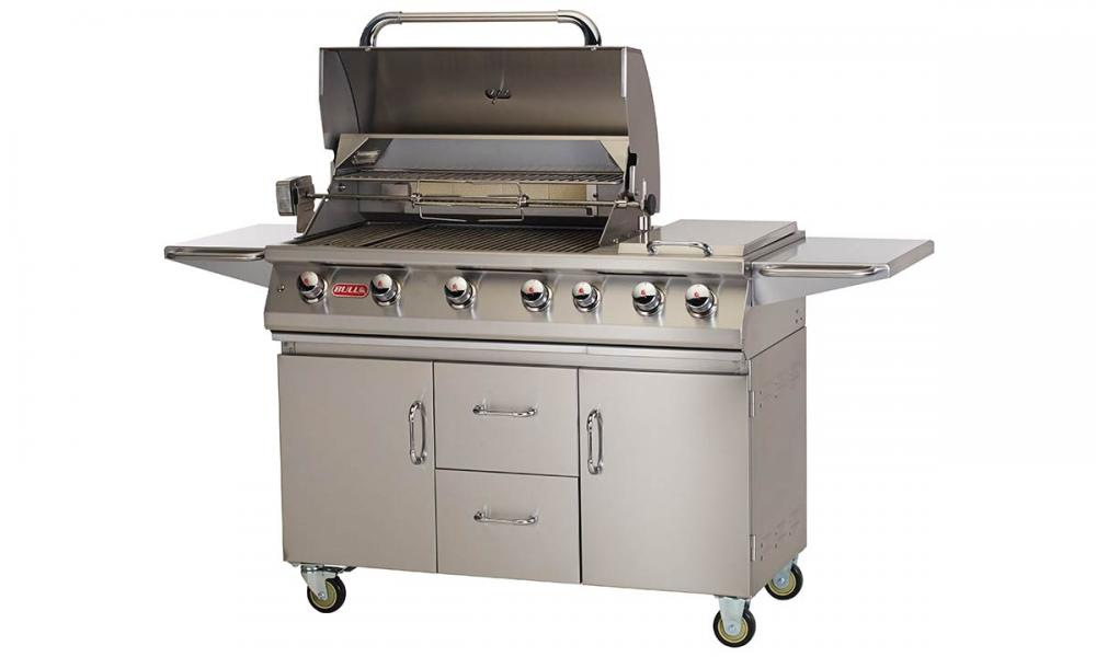 Open 7 Burner Premium Grill Cart