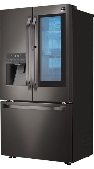 BLACK STAINLESS STEEL COUNTER-DEPTH INSTAVIEW DOOR-IN-DOOR REFRIGERATOR