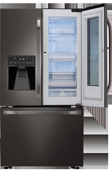 Model: LSFXC2496D | BLACK STAINLESS STEEL COUNTER-DEPTH INSTAVIEW DOOR-IN-DOOR REFRIGERATOR