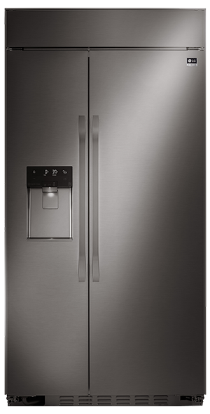 BLACK STAINLESS STEEL ULTRA-LARGE CAPACITY SIDE-BY-SIDE REFRIGERATOR
