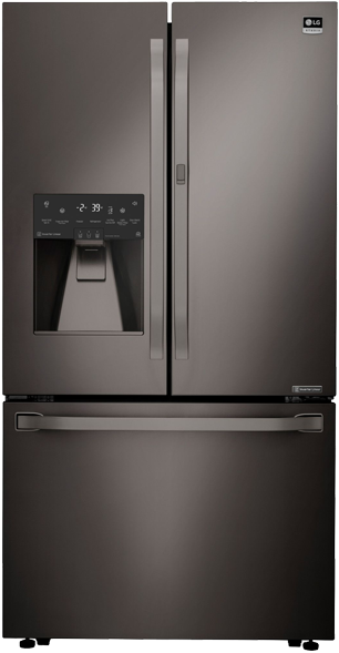 BLACK STAINLESS STEEL 3-DOOR COUNTER-DEPTH REFRIGERATOR