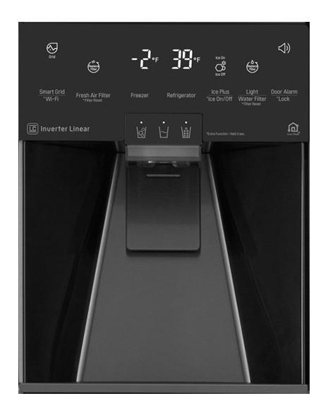BLACK STAINLESS STEEL 3-DOOR COUNTER-DEPTH REFRIGERATOR