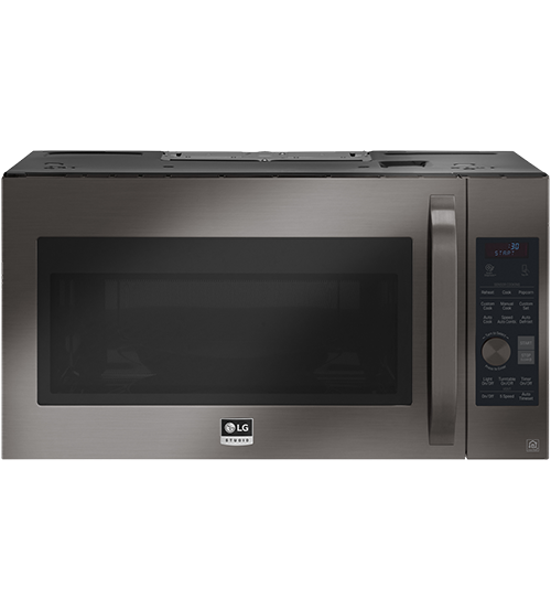 BLACK STAINLESS STEEL OVER-THE-RANGE MICROWAVE OVEN