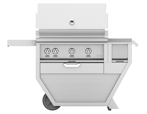 "Model: GSBR42CX-NG | Hestan 42"" FREESTANDING (ALL SEAR BURNERS) DELUXE CART"