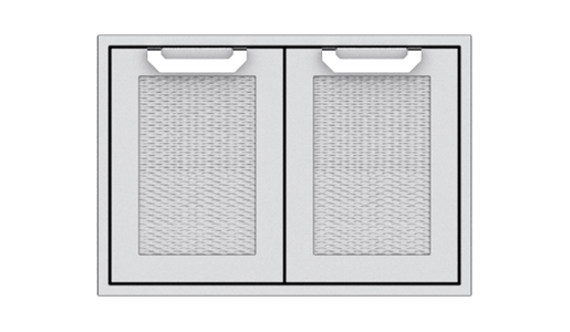"Hestan 36"" Double Access Doors , with Marquise accent panel"