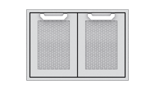 """Hestan 30"""" Double Storage Doors , with Marquise accent panel"""