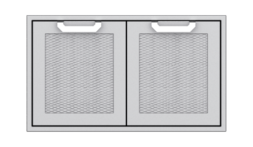 Double Sealed Pantry Storage Doors, with Marquise accent panel