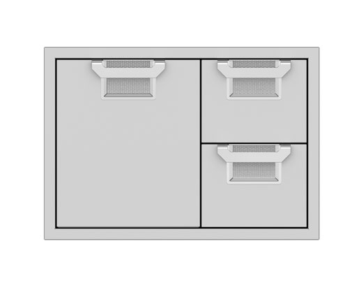 Hestan Double Drawer and Storage Door Combination