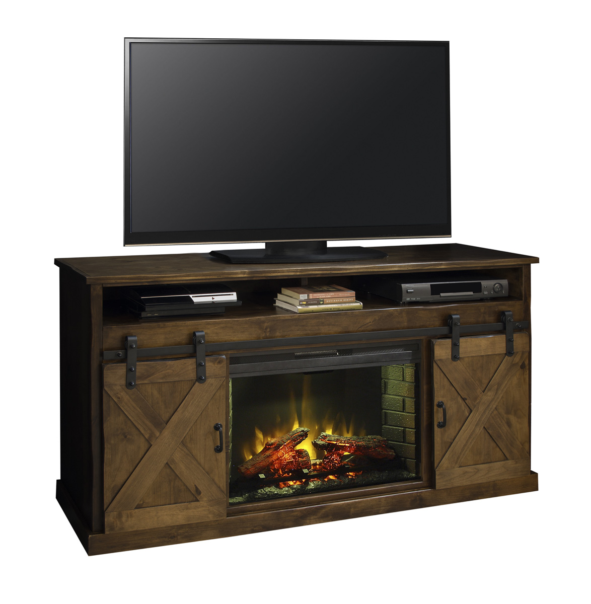 "Legends Furniture 66"" Fireplace Console AWY"