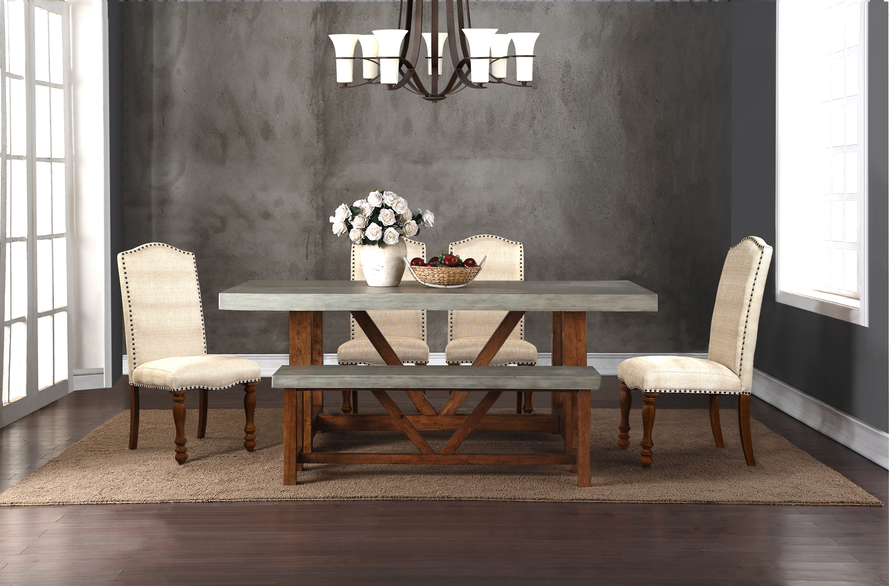 Faux Cement 42x78 Table Top