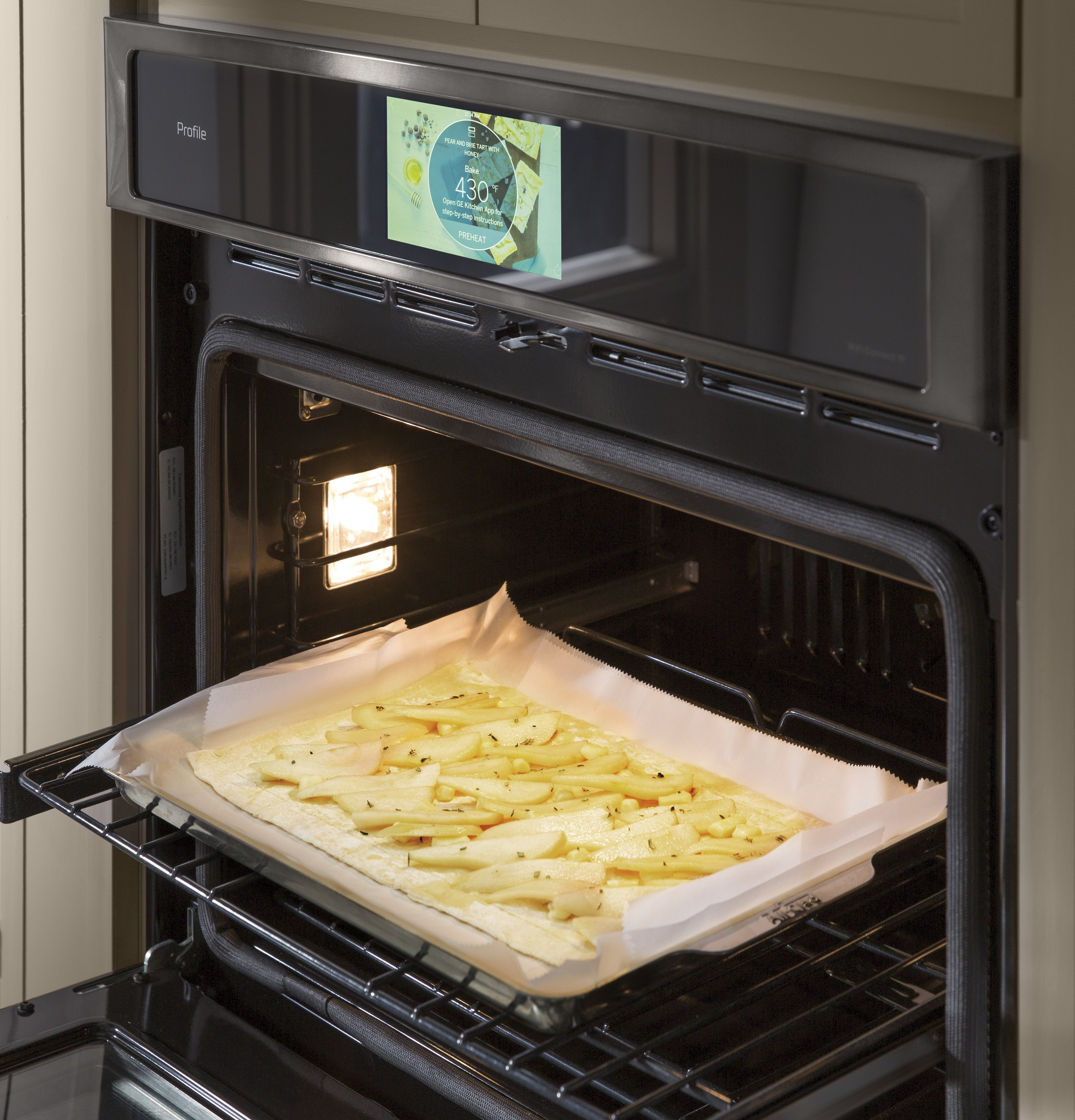 "Model: PT9551BLTS | GE Profile GE Profile™ Series 30"" Built-In Double Convection Wall Oven"