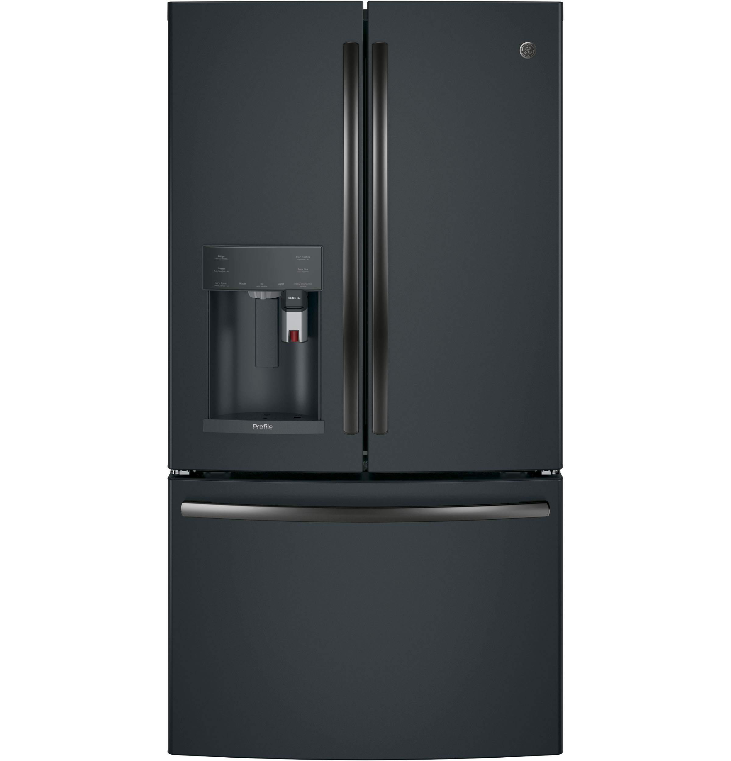 GE Profile GE Profile™ Series ENERGY STAR® 22.2 Cu. Ft. Counter-Depth French-Door Refrigerator with Keurig® K-C
