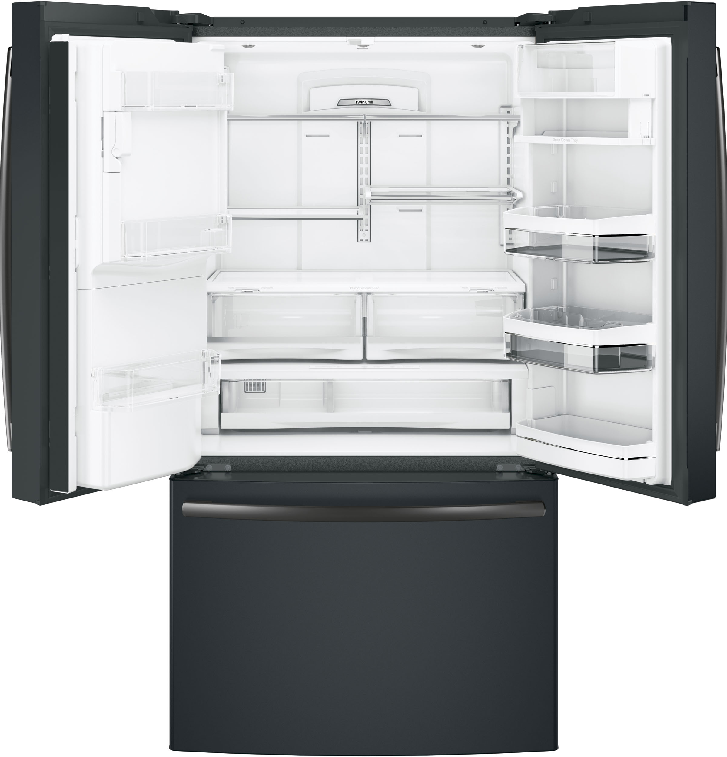 GE Profile™ Series ENERGY STAR® 22.2 Cu. Ft. Counter-Depth French-Door Refrigerator with Keurig® K-C
