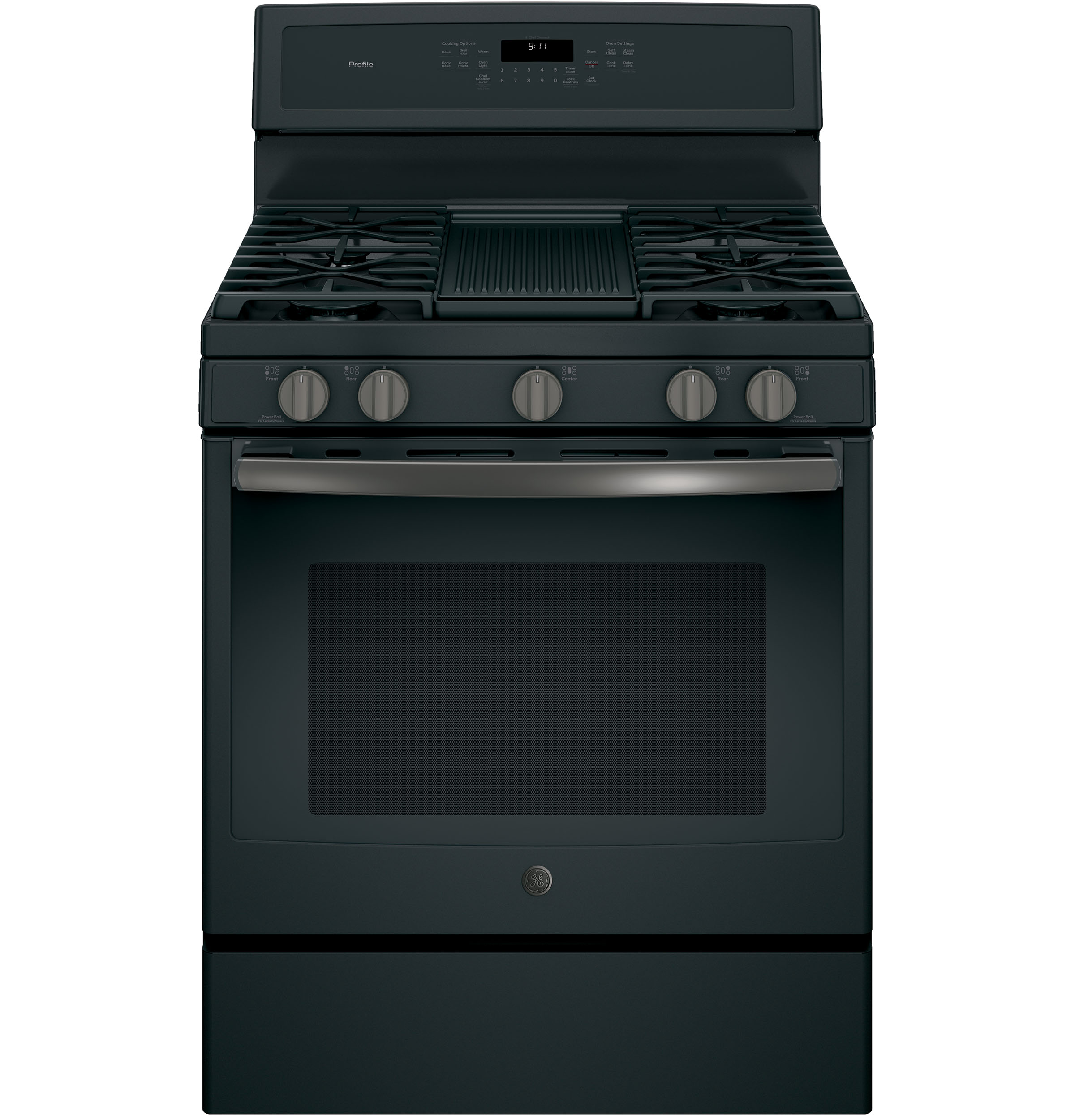 "Model: PGB911FEJDS | GE Profile GE Profile™ Series 30"" Free-Standing Gas Convection Range"