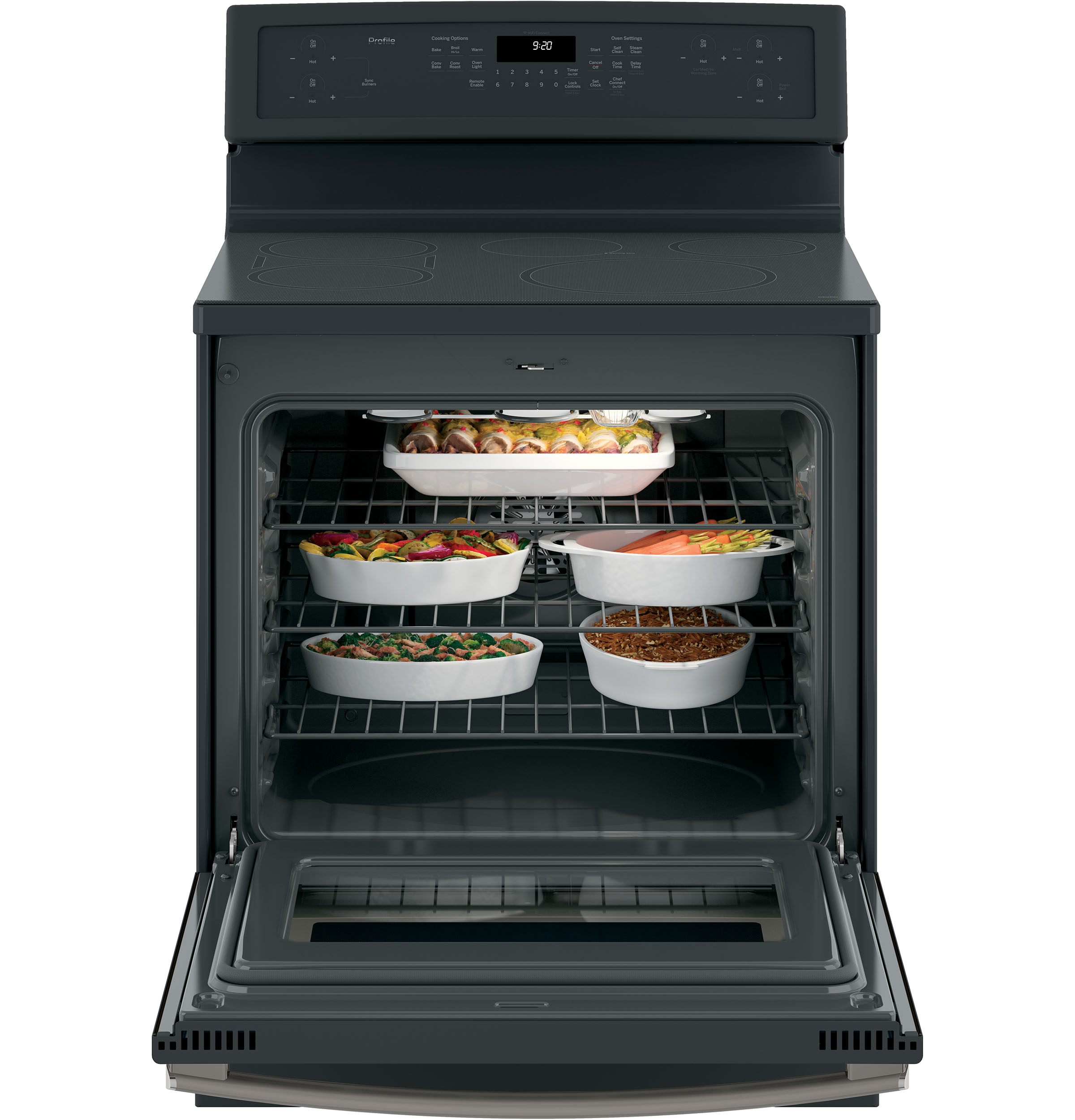 "Model: PHB920FJDS | GE Profile GE Profile™ Series 30"" Free-Standing Convection Range with Induction"