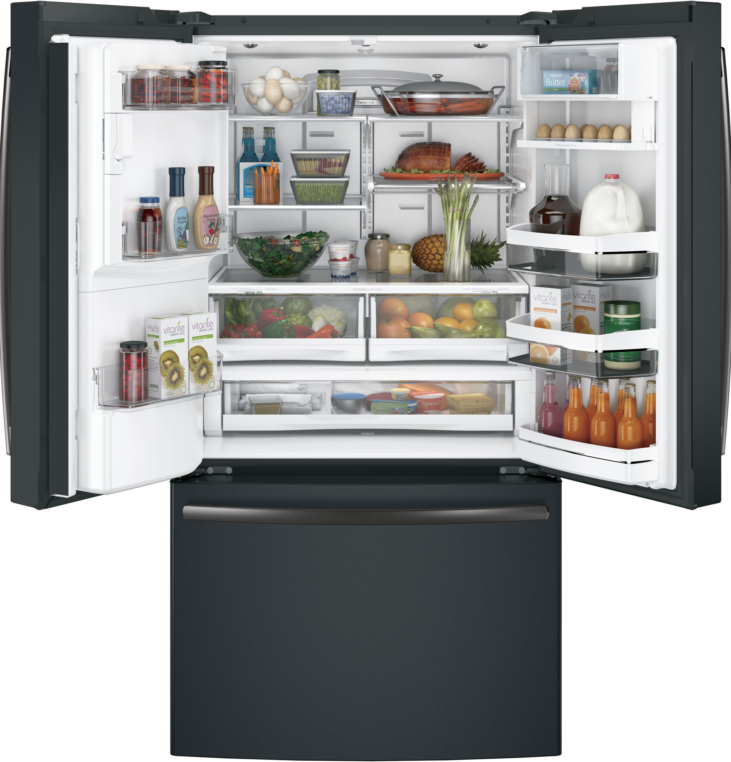 Model: PFE28PELDS | GE Profile GE Profile™ Series ENERGY STAR®  French-Door Refrigerator with Keurig®  Brewing System