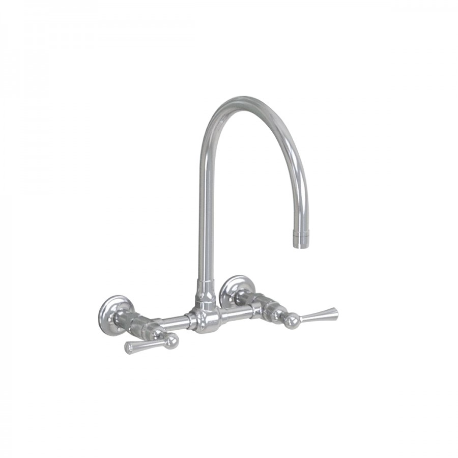"Jaclo Wall Mount 10"" Swivel Spout with Metal Lever"