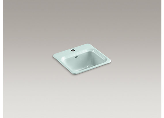"Kohler  Northland™   15"" x 15"" x 7-5/8"" top-mount bar sink with single faucet hole"