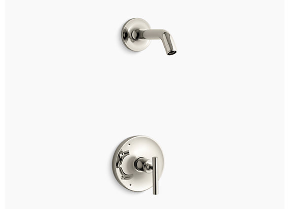 Kohler  Purist®   Rite-Temp® shower valve trim with lever handle, less showerhead