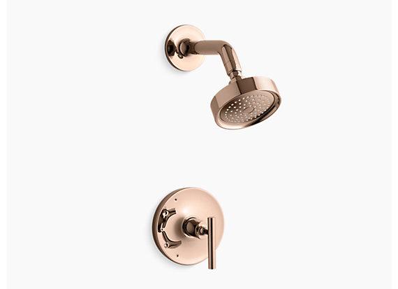 Kohler Purist®   Rite-Temp® shower valve trim with lever handle, less showerhead