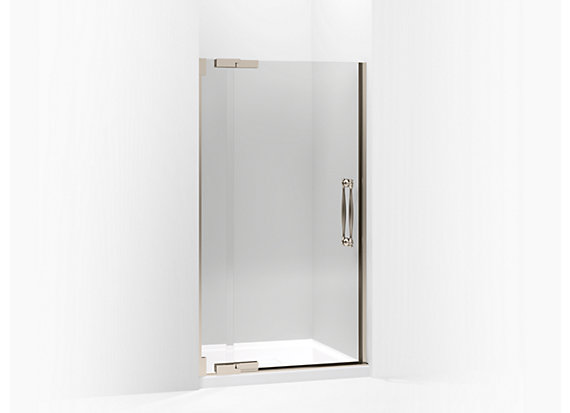 "Kohler  Finial®   Pivot shower door, 72-1/4"" H x 39-1/4 - 41-3/4"" W, with 1/2"" thick Crystal Clear glass"