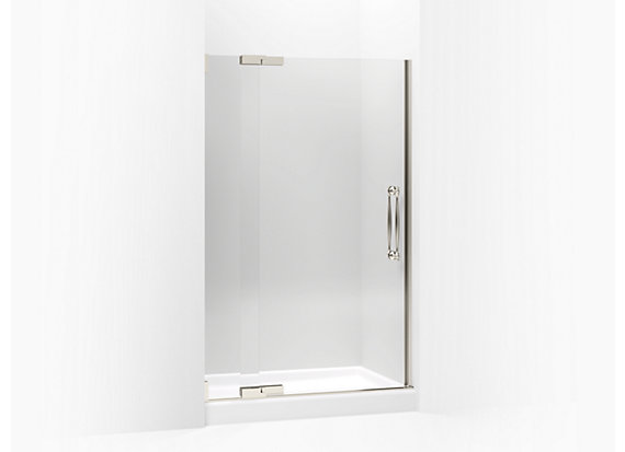 "Kohler  Finial®   Pivot shower door, 72-1/4"" H x 45-1/4 - 47-3/4"" W, with 1/2"" thick Crystal Clear glass"