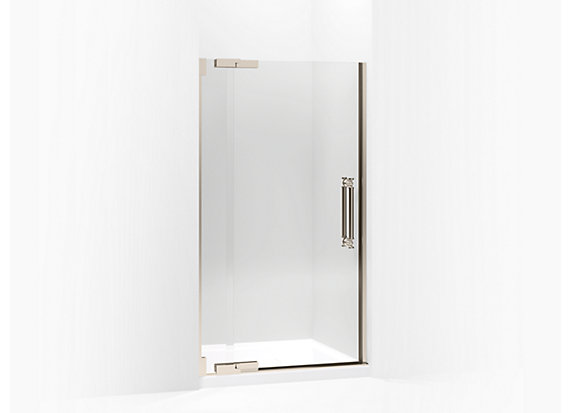 "Kohler  Pinstripe®   Pivot shower door, 72-1/4"" H x 39-1/4 - 41-3/4"" W, with 1/2"" thick Crystal Clear glass"