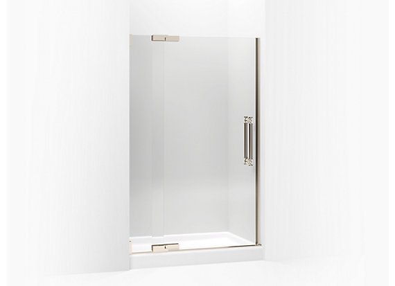 "Kohler  Pinstripe®   Pivot shower door, 72-1/4"" H x 45-1/4 - 47-3/4"" W, with 1/2"" thick Crystal Clear glass"