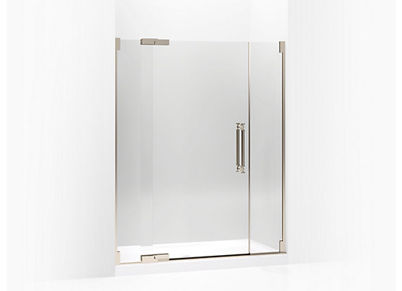 "Kohler  Pinstripe®   Pivot shower door, 72-1/4"" H x 57-1/4 - 59-3/4"" W, with 1/2"" thick Crystal Clear glass"