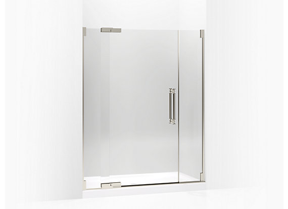 "Kohler  Pinstripe®   Pivot shower door, 72-1/4"" H x 57-1/4 - 59-3/4"" W, with 3/8"" thick Crystal Clear glass"