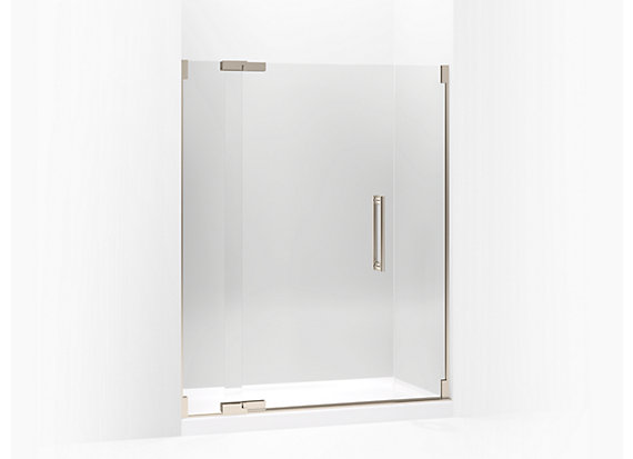 "Kohler  Purist®   Pivot shower door, 72-1/4"" H x 57-1/4 - 59-3/4"" W, with 3/8"" thick Crystal Clear glass"