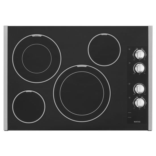 30-inch Wide Electric Cooktop with Two Dual-Choice™ Elements