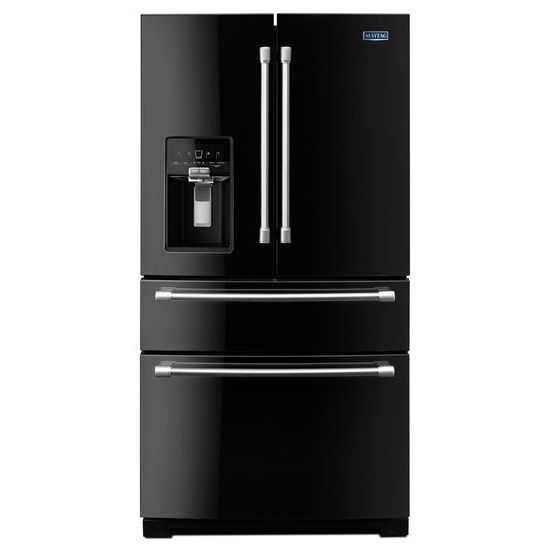 36 Inch Wide 4 Door French Door Refrigerator With Maytag Steel Shelves   26
