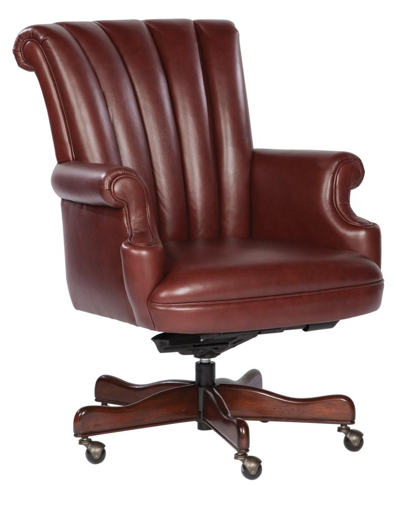 Hekman Furniture EXEC.LEATHER CHAIR-MERLOT