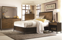 Curved Panel Storage Bed King