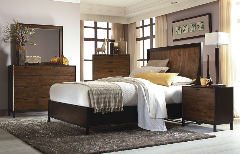 Curved Panel Bed Queen