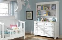 Nursery Bookcase/Hutch with Dresser