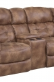 Home Stretch Reclining Console Loveseat
