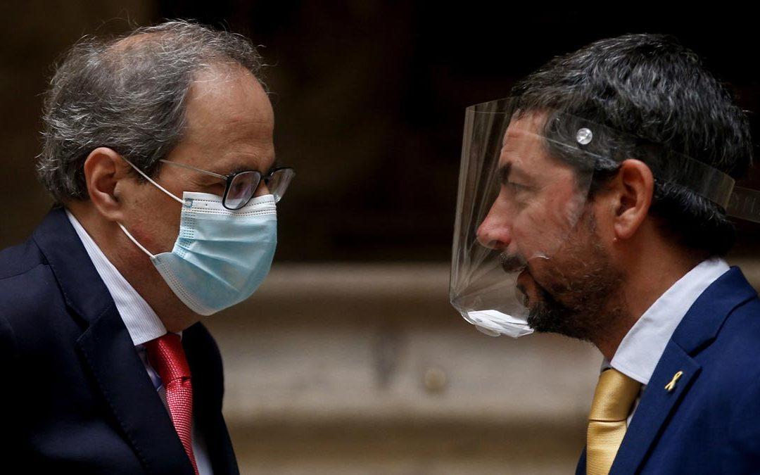 Torra insta a los empresarios catalanes a rebelarse contra el Gobierno español