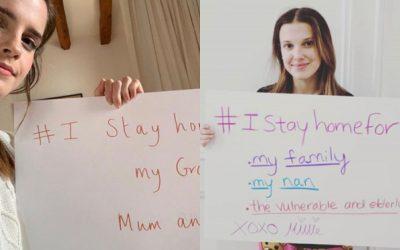 """""""Me quedo en casa por mi abuela y mi familia"""": Emma Watson y Millie Bobby Brown contra el coronavirus"""