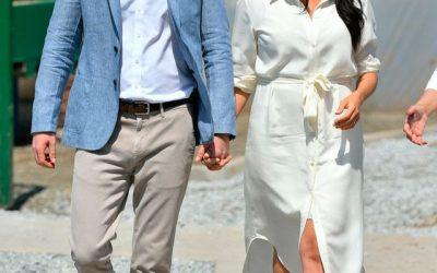 Sonrientes y felices: la imagen de Meghan Markle y el príncipe Harry el día de San Valentín