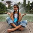 'Elif' derrocha ternura con enterizo rosado de flores ideal para una pre teen
