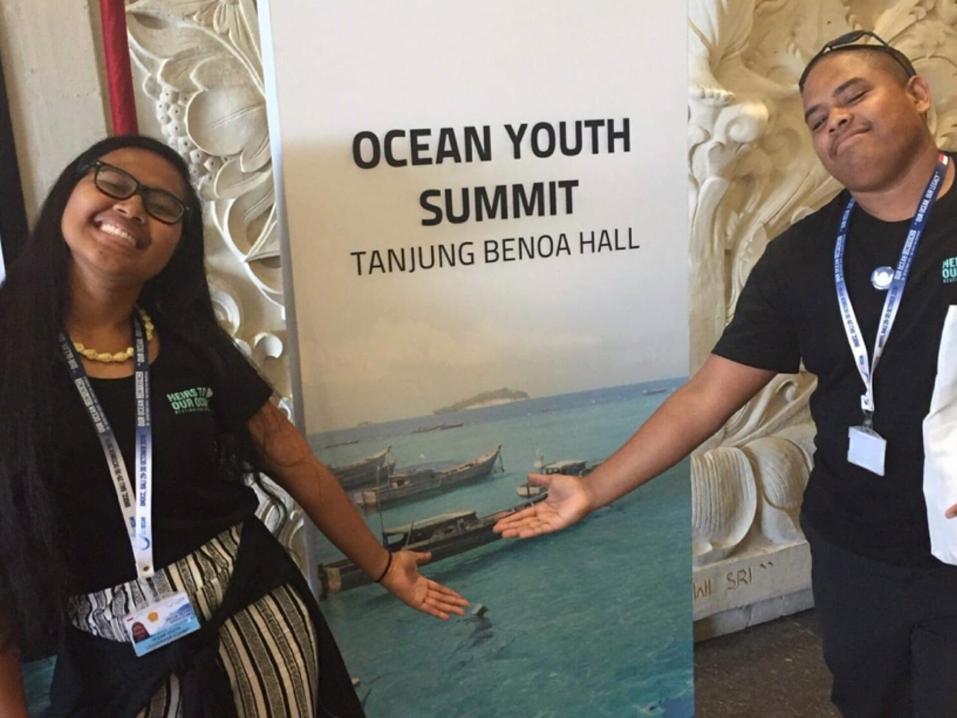 TWO ISLANDERS TO OUR OCEAN YOUTH SUMMIT
