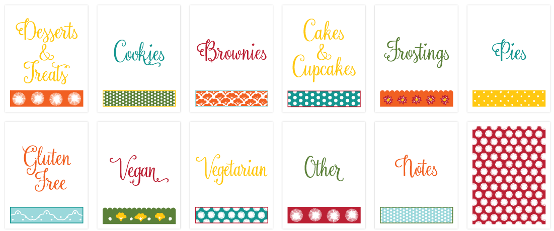 DIY Printable Recipe Binder Kit to help organize your recipes! www.ProjectGoble.com