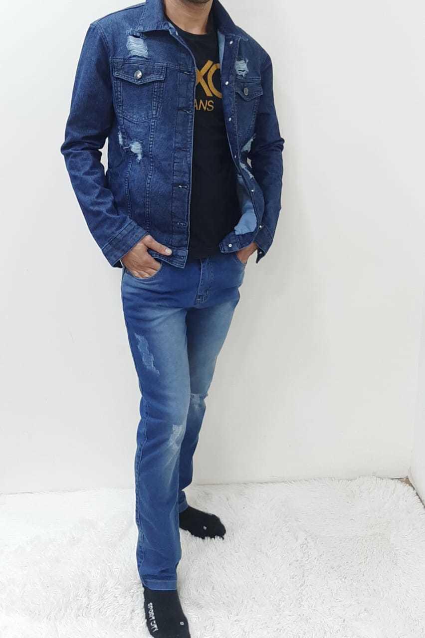 Jaqueta Masculina Adulto Jeans Rasgada REF 5980 | Kit com 6 Peças